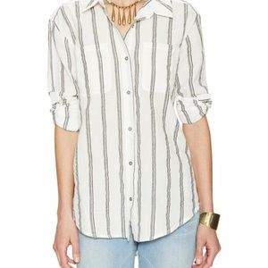 Free People Road Trip Striped Shirt